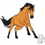 Cheval Stallion Drawing - Mustang Femelle (0 mois)
