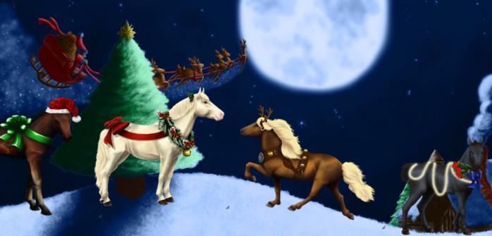 Mettez vos chevaux dans l'ambiance de Noël avec des robes exclusives !